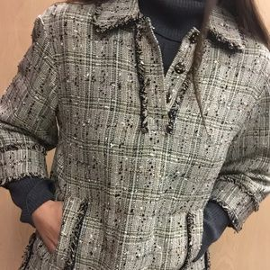 NWT Brooks brothers tweed pullover bell top